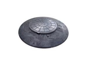 Конусный переход с крышкой 1060/120 мм (черный)