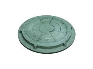 Люк полимерный зеленый 730/60 (1.5 тн)